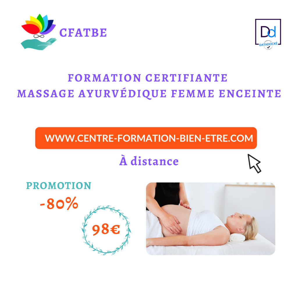 80% de remise immédiate sur la Formation Certifiante en Massage Ayurvédique Abhyanga Femme Enceinte